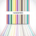 Abstract Colorful Barcode