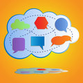 Abstract colorful big cloud computing Royalty Free Stock Image