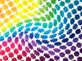 Abstract colorful blobs rainbow background with Royalty Free Stock Photo