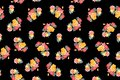 Abstract colorful block print pattern