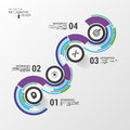 Abstract colorful business path timeline infographic template vector Royalty Free Stock Image