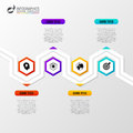 Abstract colorful business path. Timeline infographic template