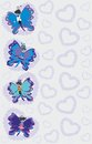 Abstract colorful butterflies creative family of Stock Image