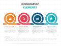 Abstract colorful circle business timeline Infographics elements, presentation template flat design vector illustration for web