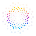 Abstract Colorful Circle Dotte...