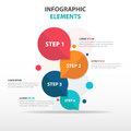 Abstract colorful circle 4 step business Infographics elements, presentation template flat design vector illustration Royalty Free Stock Photo