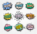 abstract colorful comics speech balloons icons collection on checkered background, dialog boxes with popular