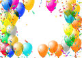 Abstract colorful confetti and balloons background. on the white. Vector