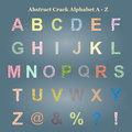Abstract Colorful Crack Alphabet Capital letter A - Z, Uppercase Royalty Free Stock Photo