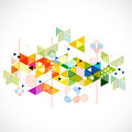 Abstract colorful and creative triangle background