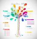 Abstract colorful curriculum vitae
