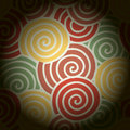Abstract colorful curve and around circle, background Royalty Free Stock Photo