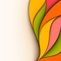 Abstract colorful design wavy background cut paper Stock Image