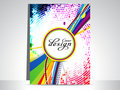 Abstract colorful dotted flayer Royalty Free Stock Images