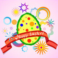 Abstract Colorful Easter Egg A...