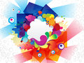 Abstract colorful explode background vector illustration Royalty Free Stock Images