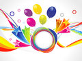 Abstract colorful explode vector illustration Royalty Free Stock Photography