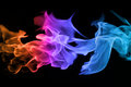 Abstract colorful flame