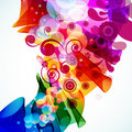Abstract colorful floral background. Royalty Free Stock Photo