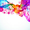 Abstract colorful floral background. Stock Photos