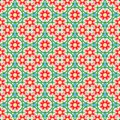 Abstract colorful floral pattern. Red flowers. Multicolor summer texture background. Seamless illustration. Royalty Free Stock Photo