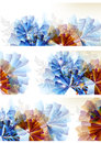 Abstract colorful flower backgrounds set Royalty Free Stock Photo