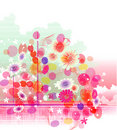 Abstract colorful (flower banner) background Stock Images