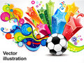 Abstract colorful football background Royalty Free Stock Images