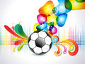 Abstract colorful football explode background Stock Photography