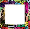 Abstract colorful funky frame place text Royalty Free Stock Image