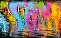 Abstract colorful graffiti reflection Royalty Free Stock Images
