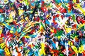 Abstract Colorful Graffiti Wal...