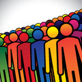 Abstract colorful group of people or workers or employees concept vector the graphic also represents icons in various Stock Image