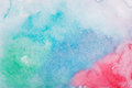 Abstract colorful hand draw watercolor aquarelle