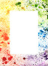 Abstract Colorful Hand Drawn Frame of Watercolor Splash.