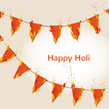 Abstract colorful Happy Holi background with with flaming flags. Design for Indian Festival of Colours. Royalty Free Stock Photo