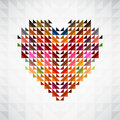 Abstract colorful heart background. Stock Photos