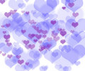 Abstract colorful heart shape background Royalty Free Stock Images