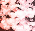 Abstract colorful heart shape background Stock Photography