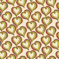 Abstract  colorful Hearts on a beige background Royalty Free Stock Photo