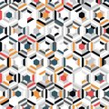 Abstract colorful hexagon pattern design of minimal decoration background. illustration vector eps10