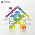 Abstract colorful house. Modern infographic design. Vector illustration Royalty Free Stock Photo