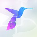 Abstract colorful hummingbird symbol illustration Royalty Free Stock Photos
