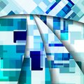 Abstract colorful illustration square composition Stock Photo
