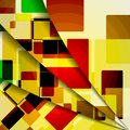 Abstract colorful illustration square composition Royalty Free Stock Images
