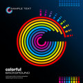 Abstract colorful layout. Vector. Stock Photography