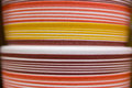 Abstract colorful lines on clay pots Royalty Free Stock Photo