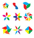 Abstract colorful logo objects various Stock Images