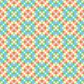 Abstract colorful mosaic pattern. Multicolor checked texture background. Royalty Free Stock Photo
