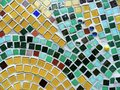Abstract colorful mosaic urban wall with Royalty Free Stock Images